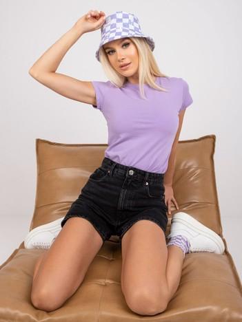 Lawendowy t-shirt damski