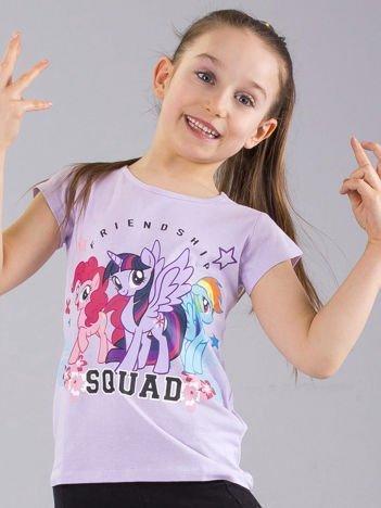 Liliowy dziewczęcy t-shirt z nadrukiem MY LITTLE PONY