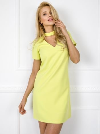 Limonkowa sukienka Nancy