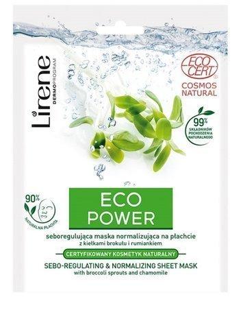 Lirene Eco Power Seboregulująca maska normalizująca na płachcie 25 g