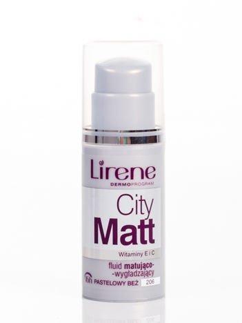 Lirene Fluid matująco-wygładzający City Matt - Pastelowy Beż 206 30 ml