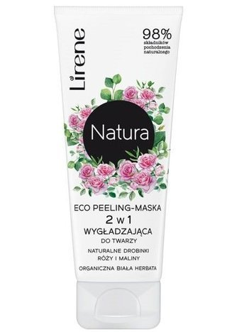 Lirene NATURA ECO peeling-maska 2 w 1 organiczna biała herbata 75 ml