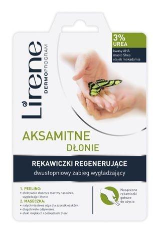 Lirene RĘKAWICZKI REGENERUJĄCE - DWUSTOPNIOWY ZABIEG WYGŁADZAJĄCY - AKSAMITNE DŁONIE 17 ml