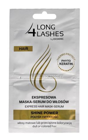 Long 4 Lashes Ekspresowa Maska-Serum do włosów Shine Power połysk + miękkość  6 ml x 2