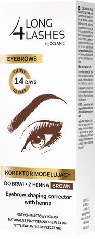 Long 4 Lashes Eyebrows Korektor modelujący do brwi z henną brązowy 10 ml