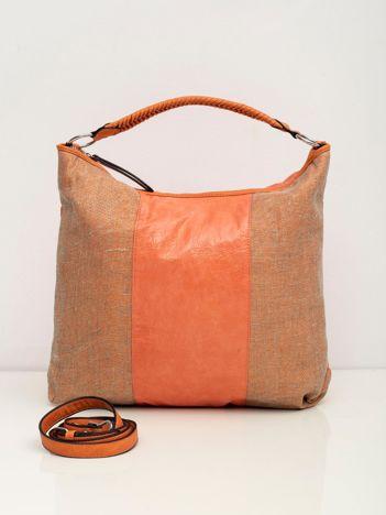 Łososiowa torba damska ze skóry ekologicznej