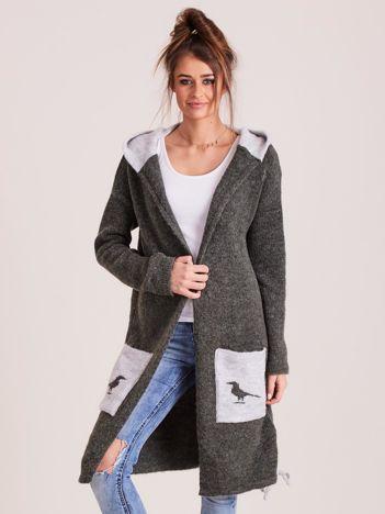 MAGPIE Khaki długi sweter