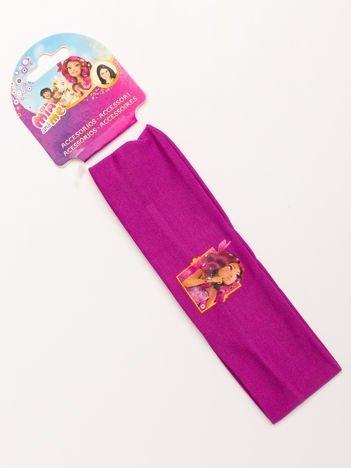 MIA I JA Ciemnoróżowa elastyczna opaska do włosów dla dziewczynki