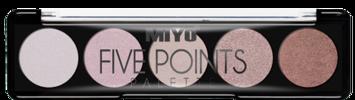 MIYO Paleta 5 cieni FIVE POINTS PALETTE no.08 very me 6,5 g