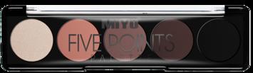 MIYO Paleta 5 cieni FIVE POINTS PALETTE no.10 fancy peach 6,5 g