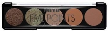 MIYO Paleta 5 cieni FIVE POINTS PALETTE no.15 consequences 6,5 g