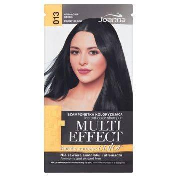 MULTI EFFECT color Keratin complex Szamponetka koloryzująca Hebanowa czerń  /013/