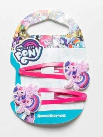 MY LITTLE PONY Zestaw 2 szt. różowych spinek do włosów dla dziewczynki