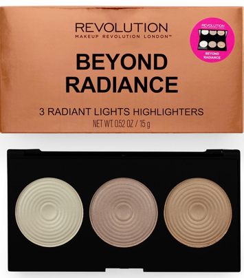 Makeup Revolution Beyond Radiance Highlighter Palette Paleta 3 rozświetlaczy 15 g