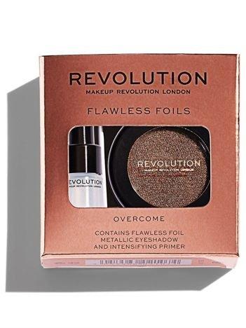 Makeup Revolution Flawless Foils Cień do powiek metaliczny + baza Overcome