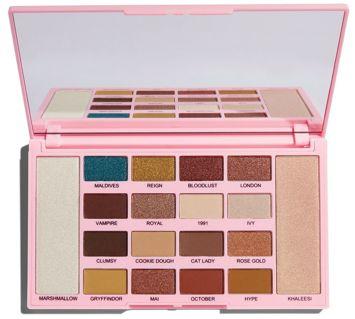 Makeup Revolution Kisu Palette Zestaw 16 cieni i 2 rozświetlaczy