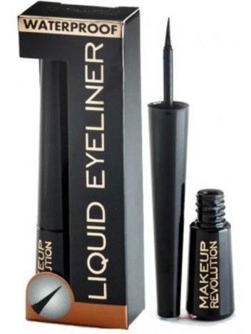 Makeup Revolution Liquid Eyeliner wodoodporny czarny 3 ml