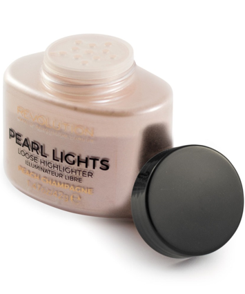 Makeup Revolution Pearl Lights Loose Highlighter Puder sypki rozświetlający Peach Champagne 25 g