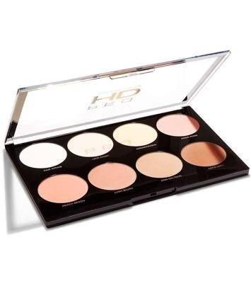 Makeup Revolution Pro HD Amplified 8 Palette Zestaw pudrów i róży do konturowania Mega Matte 32 g