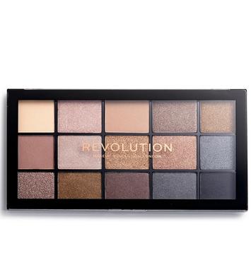 Makeup Revolution Re-Loaded Paleta cieni do powiek Smoky Newtrals 16,5 g