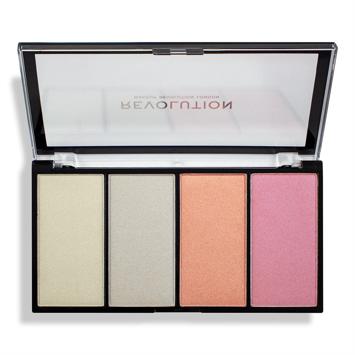 Makeup Revolution Re-Loaded Paleta rozświetlaczy Lustre Lights Cool  20 g