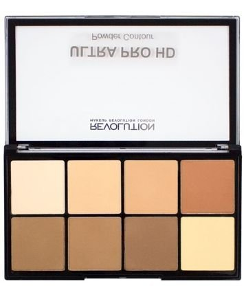 Makeup Revolution Ultra Pro HD Powder Contour Light-Medium Zestaw pudrów do konturowania 20g