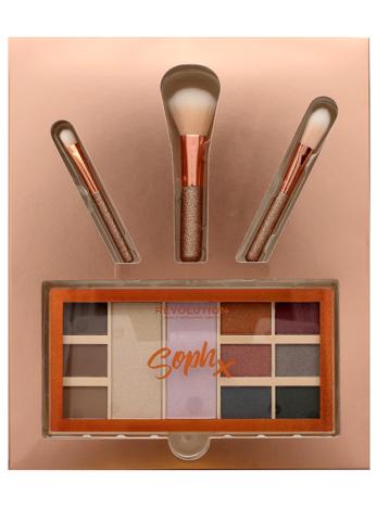 Makeup Revolution Zestaw prezentowy Soph's Party (paleta do makijażu plus pędzle)
