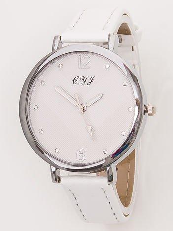 Mały Biały Zegarek Damski Z Cyrkoniami