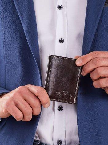 Mały brązowy portfel męski