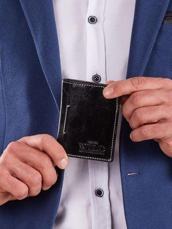 Mały czarny portfel męski