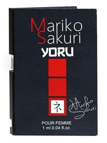 Mariko Sakuri YORU Piękne perfumy z FEROMONAMI o delikatnym, kobiecym i podniecającym zapachu. Intensywnie działają na mężczyzn 1ml