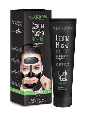 Marion Detox Aktywny Węgiel Maska czarna peel-off 25 g