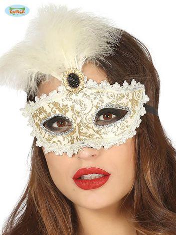 Maska na bal z piórkami