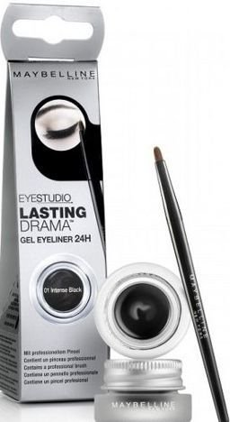 Maybelline Eye Studio Lasting Drama Gel Eyeliner 24h żelowy eyeliner 01 Intense Black