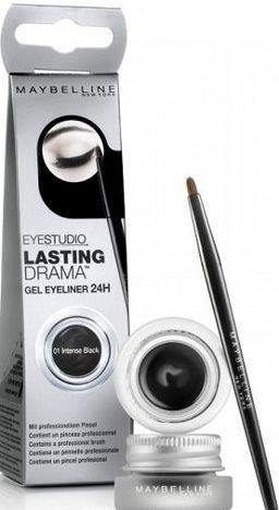 Maybelline Lasting Drama Gel Eyeliner 24h żelowy eyeliner 01 blackest black