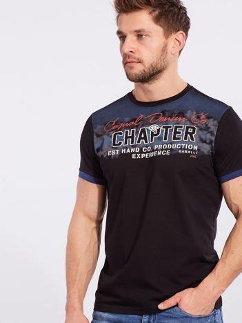 Męski t-shirt bawełniany czarny