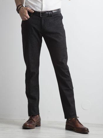 Męskie spodnie chino czarne