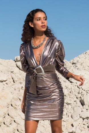 Metaliczna sukienka damska BSL