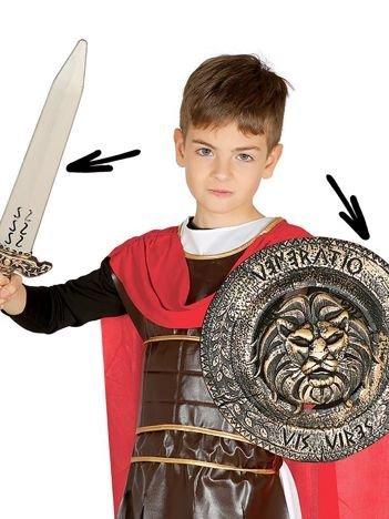 Miecz i tarcza greckiego żołnierza dla dzieci