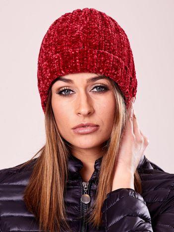 Miękka czerwona czapka damska