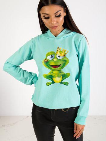Miętowa bluza Froggy