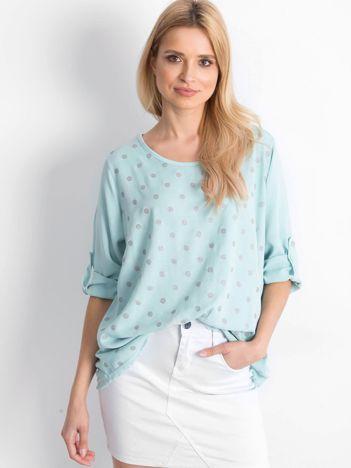 Miętowa bluzka Designer