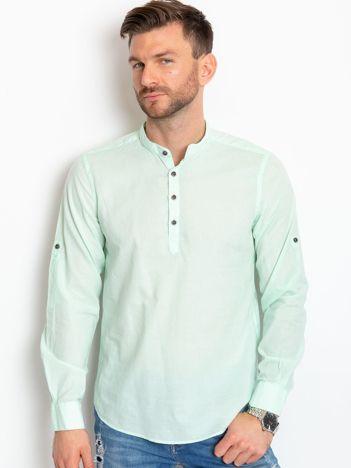 Miętowa koszula męska Crown