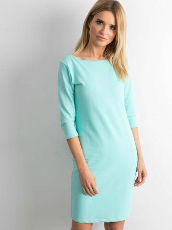 Miętowa sukienka z bawełny