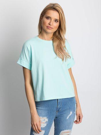 Miętowy t-shirt Woodland
