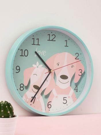 Miętowy zegar ścienny