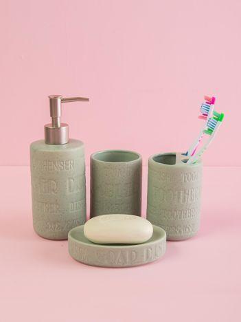 Miętowy zestaw akcesoriów łazienkowych