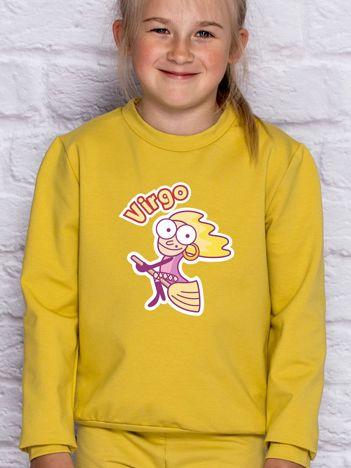 Miodowa bluza dziecięca znak zodiaku PANNA