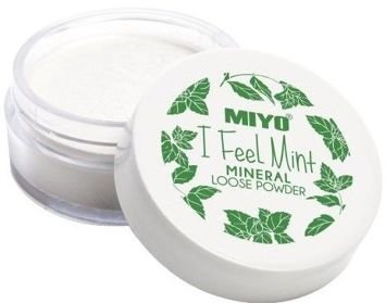 Miyo I FEEL MINT MINERAL POWDER Lekki puder mineralny z drobinkami bambusa 12g