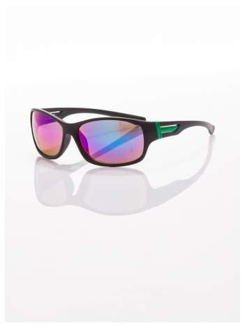 Modne męskie okulary przeciwsłoneczne niebiesko-zielone w sportowym stylu